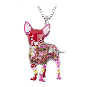 Unique Chihuahua Pendant Necklace