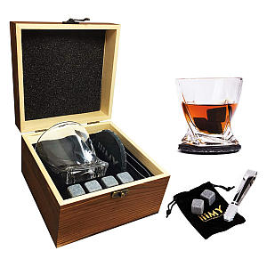 Whisky Stones And Glass Gift