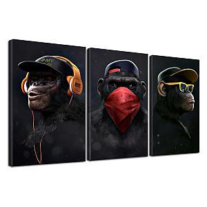 Wise Monkeys Canvas Wall Art