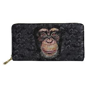 Women's Monkey Print Wallet