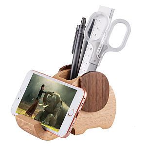 Wooden Elephant Phone Stand Organiser