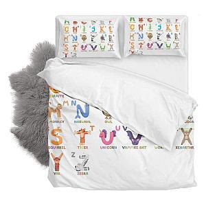 Zoo Animal Alphabet Double Duvet Cover