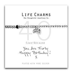 Happy 40th Birthday Charm Bracelet