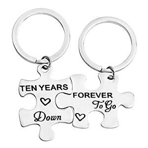 10 Years Together Keychain