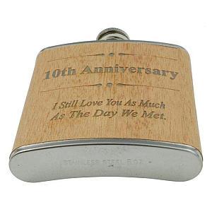 10th Anniversary Hip Flask