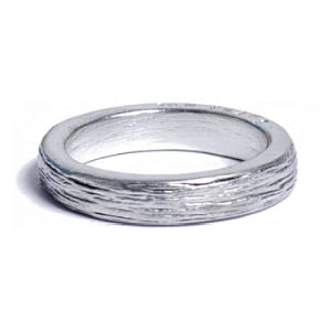 10th Anniversary Tin Inscribed Ring