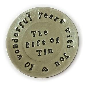 10th Anniversary Tin Miniature Plate
