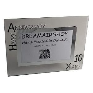 10th Tin Wedding Anniversary Photo Frame