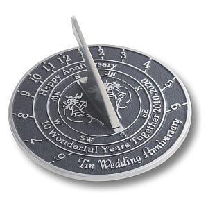 10th Wedding Anniversary Sundial