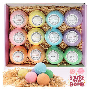 12 Fizzy Bath Bombs