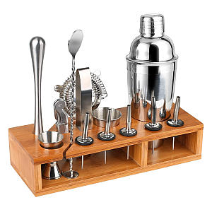 13 Piece Set with Bamboo Stand