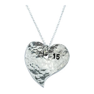15th Anniversary Heart Necklace