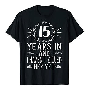 15th Anniversary T-Shirt for Him