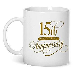 15th Wedding Anniversary Mug