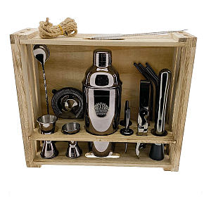 16 Piece Shaker Set with Wooden Stand