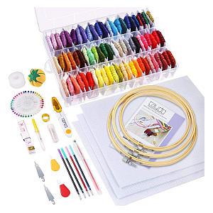 164 Pieces Embroidery Kit for Beginners