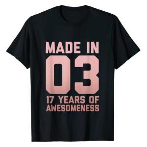 17 Years of Awesomeness Girls T Shirt