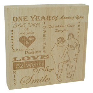 1st Anniversary Decorative Free Standing Ornament