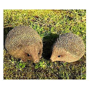 2 Piece Hedgehog Ornament Set