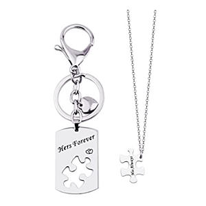 2 Piece Necklace and Keychain