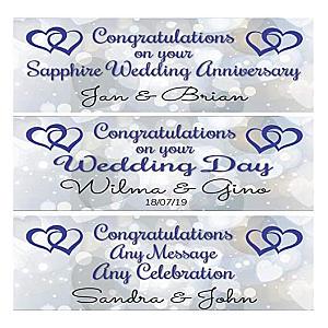 2 Sapphire Wedding Banners