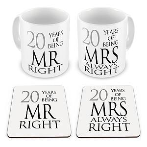 Mr & Mrs Mug and Coasters