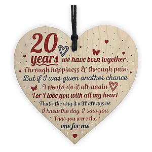 20 Years Heart Plaque