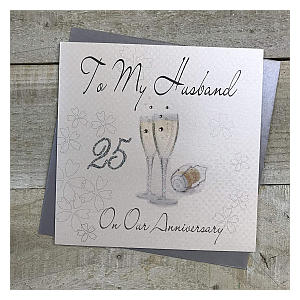 25th Anniversary Card For Husband