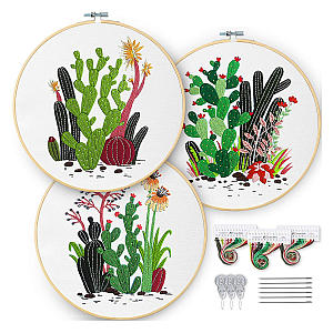 3 Pack Cacti & Plant Pattern Kits