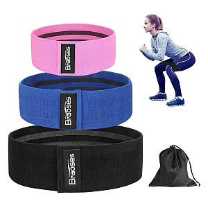 3 Piece Resistance Band Set for Women