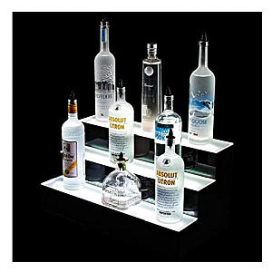 3 Tier LED Bottle Display