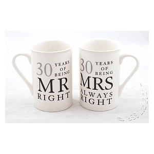 30 Years Mr & Mrs Mugs