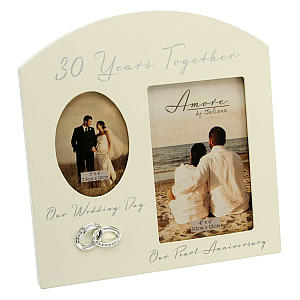 30 Years Together Double Photo Frame