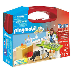 39 Piece Playmobil Vet Case