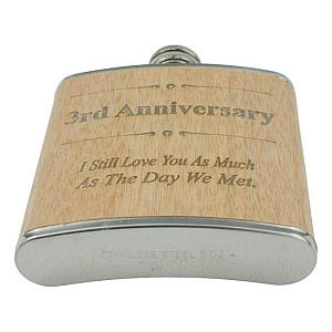 3rd Anniversary Hip Flask