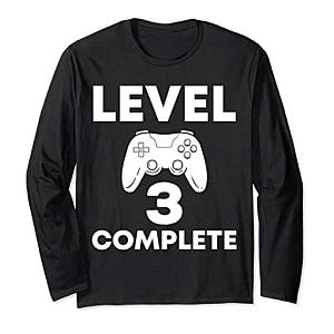 3rd Year Anniversary Long Sleeve T-Shirt for Him