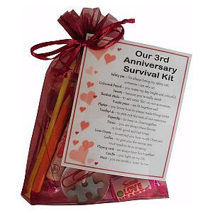 3rd Year Anniversary Survival Kit
