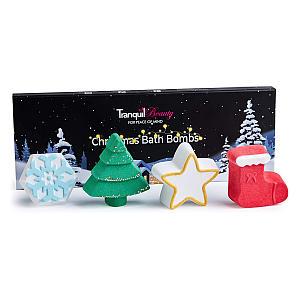 4 Christmas Bath Bombs