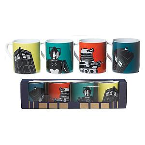 4 Coffee Mugs Gift Set