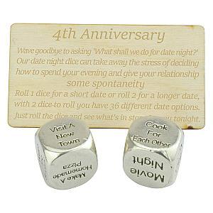 4th Anniversary Date Dice