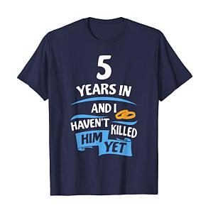 5 Year Anniversary T-Shirt for Her
