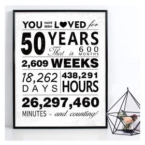 50 Years Of Love Art Print