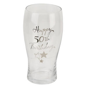 50th Birthday Pint Glass