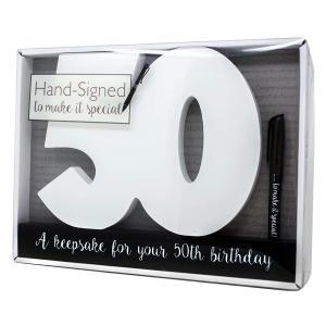 50th Birthday Signature Number Keepsake