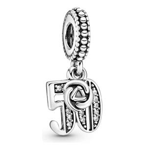50th Birthday Sterling Silver Charm