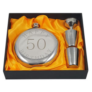 50th Flask Gift Set