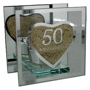 50th Golden Anniversary Tea Light Holder