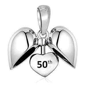 50th Heart Charm Bead
