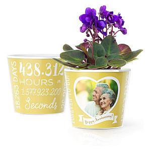 50th Wedding Anniversary Flower Pot