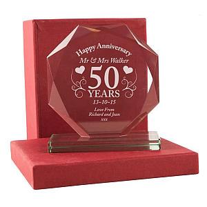 50th Wedding Anniversary Trophy